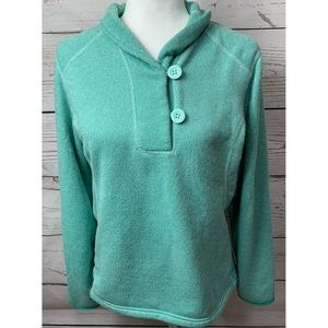 The North Face Mint Button Pattern Fleece Sweater
